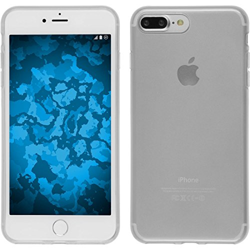 PhoneNatic Case für Apple iPhone 7 Plus Hülle Silikon türkis transparent Cover iPhone 7 Plus Tasche + 2 Schutzfolien Weiß