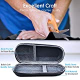 Hard EVA Razor Travel Case Carrying Bag (Only Case) for Gillette Fusion5 ProGlide Power Men's Razor - Mesh Pocket for Razor Blades + Lightweight Carrying Handle + Durable Zipper by Anplus (Black)
