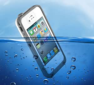 Swees® New Waterproof Shockproof and Dirtproof Case for Apple iPhone 4 4s - White