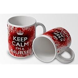 Keep Calm I 'm una enfermera taza de diseño de pantera sanguinaria–Nuevo diseño de sangriento