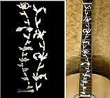 Adesivo per tastiera chitarra in stile intarsio, design 'Tree of Life', Silver