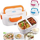 SHOPPO SHOP Office Portable Electric Heating Lunch Box Storage Food Warm Heater 2 Containers Lunch Box (600 ml)
