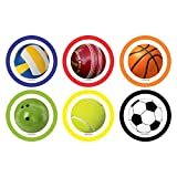 ezyPRNT Coasters Set of 6 with Sporty Balls Expressions