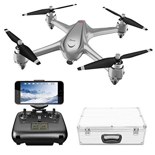 GPS wifi Drone sin Escobillas con 1080P Cámara HD, Potensic D80 FPV Avión Radiocontrol con 110º Gran Angular, Control Remoto, Quadcopter RTF Altitude Hold, Modo Sin Cabeza, Retorno a Casa