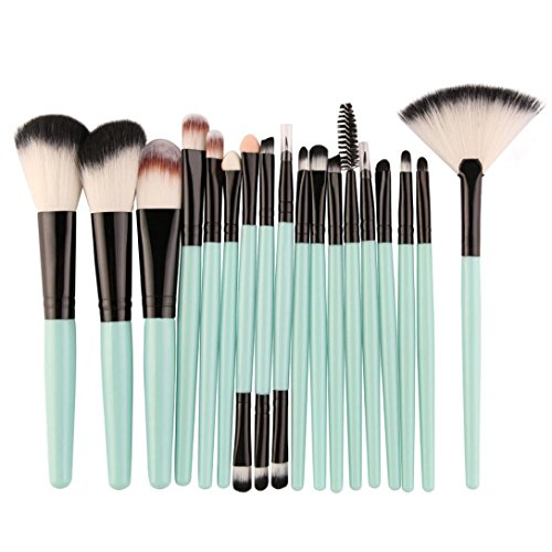 Makeup Kosmetik Pinsel Xinan 18 Stk Makeup Pinsel Set Tools Make-up WC Kit Wolle Make up Pinsel Set Künstlerpinsel (❤️, Grün)