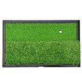 Golfübungsgeräte Golf Swing Praxis Ausbildung Schlagen Matte Drinnen draußen für Anfänger Klein Langes und kurzes Gras (30cm x 50cm) Schlagmatten