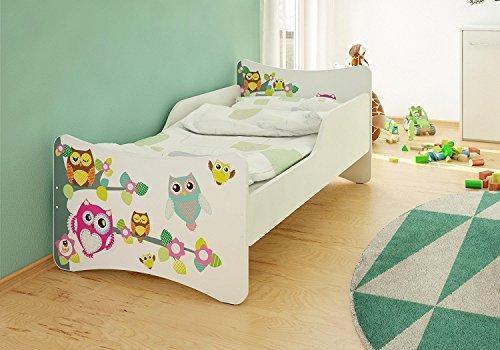 Best For Kids Babybett Kinderbett Jugendbett 70x140 mit Matratze 10 cm und Lattenrost SONDERANGEBOT !!! (Eulen)