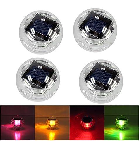 BLOOMWIN Lot de 4 Lampe Solaire LED Boule Flottant Changement