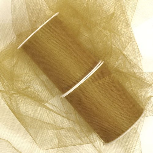 le Bolt Fabric Net (6 x 25 yards, Gold) by Party Spin ()