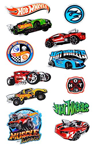 t Sticker / Aufkleber -  Hot Wheels Fahrzeuge  - selbstklebend - für Jungen - Hotwheels Auto Stickerset Kinder - z.B. für Stickeralbum / Figuren -.. ()