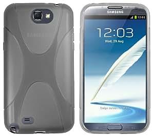 mumbi X-TPU Silikon Schutzhülle für Samsung Galaxy Note 2 transparent schwarz