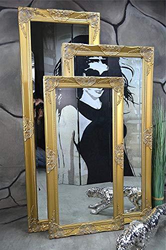 Livitat® Wandspiegel Spiegel Badspiegel barock antik Gold 120 x 60 cm