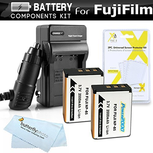 2 Pack Battery And Charger Kit For Fuji Fujifilm FinePix SL1000 SL300 S1 Digital Camera Includes 2 Extended Replacement (200Mah) For Fuji NP-85 Batteries + Ac/Dc Rapid Travel Charger + LCD Screen Protectors + MicroFiber Cleaning Cloth  available at amazon for Rs.4093