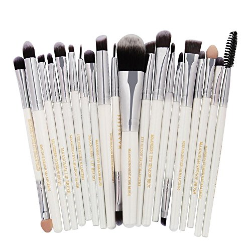 Zhen+ Mode Beauty Make-up Pinsel Kosmetik Bürsten Set 20pcs Professionelles Puderpinsel Concealer Pinsel Schminkpinsel Kosmetikpinsel Lidschatten Gesichtspinsel Eyeliner-Pinsel Lippen-pinsel Mascara-Pinsel Schwamm-pinsel Rougepinsel (C)