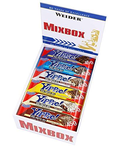 Weider Yippie! Proteinriegel 45 g Mix Box 12 leckere Eiweißriegel, low-carb