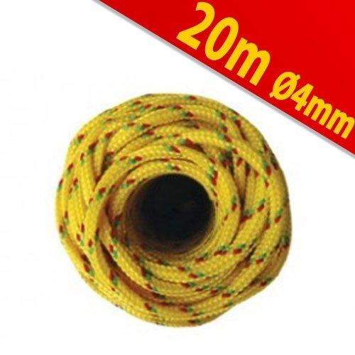 Preisvergleich Produktbild Kunststoffseil PP Polypropylen Polyseil gelb 20mx4mm