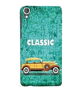 PrintVisa Designer Back Case Cover for HTC Desire 825::HTC Desire 825 Dual SIM with Dual-SIM Card Slots (Vintage Animated Car Pic)