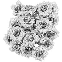 Aix Home GmbH Exklusive Dekoblumen/Dekopflanzen L 100 cm Silber/grau Blumen Kunstblumen & -pflanzen