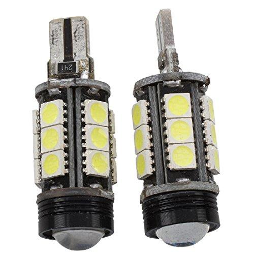 SODIAL(R) 2pcs T15 W16W 16-SMD 5050 LED Clignotant Lumiere de signal ampoule Blanc DC 12V