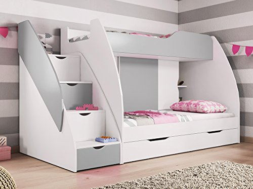 Kids bunk bed set martin with mattresses express for Beds express delivery