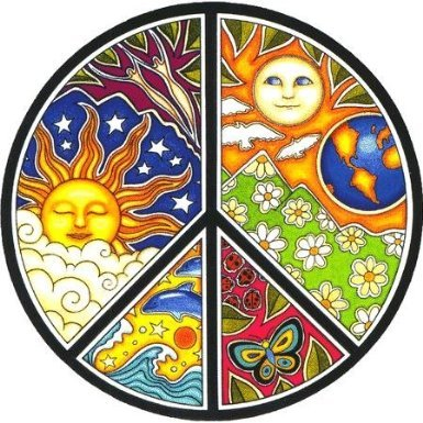 Dan Morris - #1 World Famous, Celestial PEACE Symbol Window Sticker autocollant Decal 4.75
