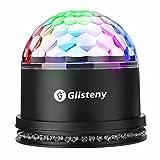 Scene Lampe, GLISTENY Disco Lumiere Stade Light RGB LED Commande Sonore Boule Cristal Ampoule Projecteur Multicolore Eclairage Pour Noel DJ Party Deco Mariage Concert Bar