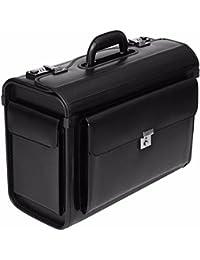 3ff92d6c1 Leather Pilot Case Briefcase Flight Bag Hand Luggage Business 16