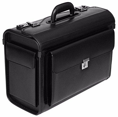 """Tassia Pilotenkoffer mit Laptopfach 16"""" - Business-Stil - Lederfaserstoff - für Handgepäck geeignet"""
