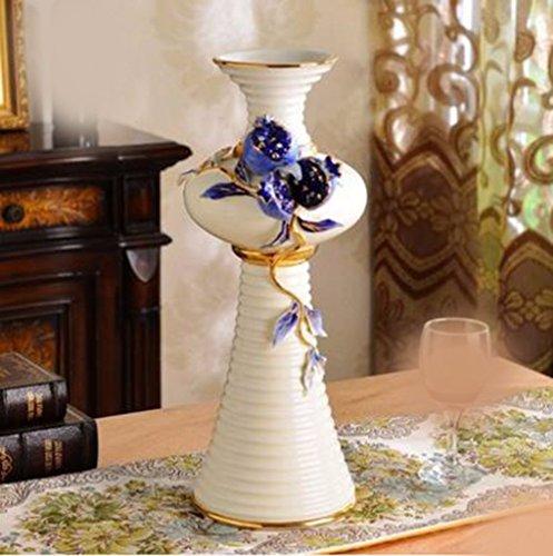 JRFBA Large Living Room Decoration Flower Vase Style Creative Ceramic Vase Table Home Furnishing High Luxury Decor,B