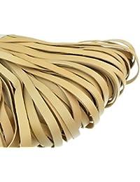 Banda de cuero plana 10mm x 2,5mm. Natural/Beige., Natur/Beige, 10 m