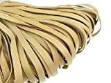 esnado Lederband Flach 10 mm x 2,5 mm. Natur/Beige - 3 Meter