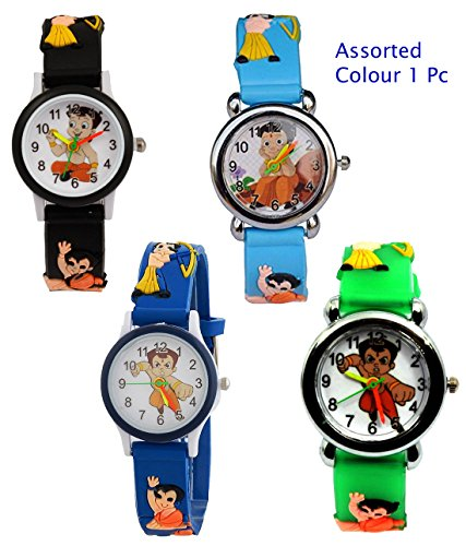 Nubela New Chota Bheem Dark Blue Colour Analogue Watch For Kids  available at amazon for Rs.199