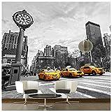 azutura New York Gelb Taxi Fototapete Schwarz-Weiss Tapete Schlafzimmer Haus Dekor Erhältlich in 8 Größen Riesig Digital