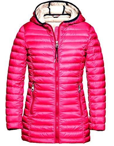 Reset Mädchen Kinder Daunenjacke Longer Ultra Light Down Jacket Sommer Fuchsia Rosa Gr. 128-176 8-16 Jahre (116)