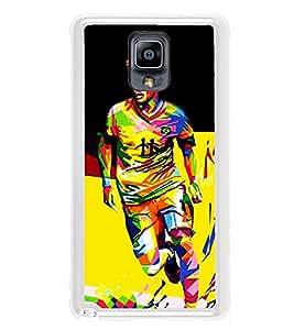 PrintVisa Designer Back Case Cover for Samsung Galaxy Note 3 :: Samsung Galaxy Note Iii :: Samsung Galaxy Note 3 N9002 :: Samsung Galaxy Note 3 N9000 N9005 (Soccer Football Player Game)
