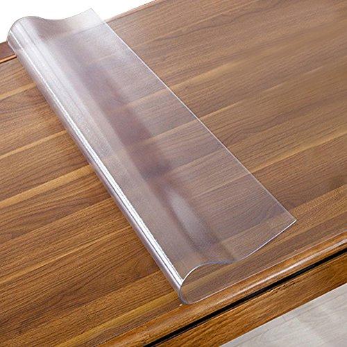 Transparente Matt Wasserdichte öl-Proof Tischdecke, Anti-Heiß PVC Schutzfolie, Qualität Lebensmittelecht Tischschutz Folie 1,5 mm - Breit Länge wählbar(M:120x60cm)