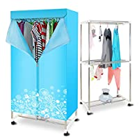 Household Warm Air Clothes Dryer -1800W High Power 30kg Large Capacity Stainless Steel Tube Dry Hanger
