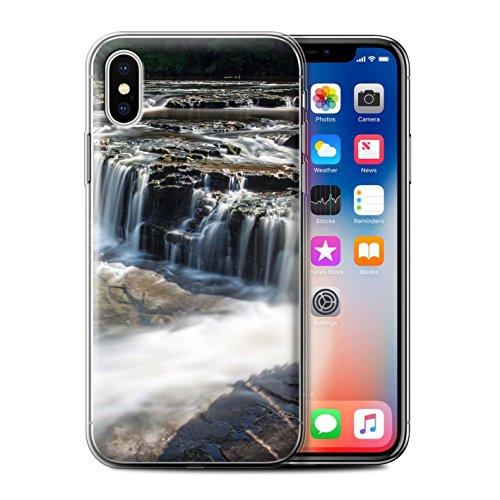 Stuff4 Gel TPU Hülle / Case für Apple iPhone X/10 / Felsigen Stream Muster / Wasserfälle Kollektion Untiefe