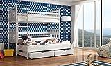Wohnideebilder Hochbett Etagenbett Kinderbett Severy für 3 Personen, Schlaffläche 90 cm x 200 cm Neu, Weiss