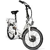 E-Bike/ E-Fahrrad/ Elektrofahrrad/ Faltrad Fahrrad/ Stadtrad/ Citybike/ Unisex, Herren, Damen/ weiß, by Provelo