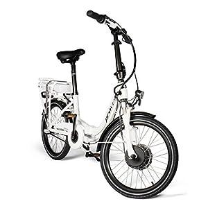 E-Bike Faltrad in weiß | Unisex | Elektrofahrrad mit 20 Zoll (50,8 cm) Reifengröße | Fahrrad mit 3 Gang Nabenschaltung | Stadtrad | by Provelo