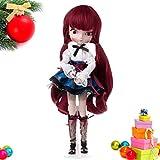 Kofun BBGIRL Kinder Mädchen Puppe Sammlung Abbildung mit Großen Augen Schöne Gils Mona Cartoon Puppe Spielzeug Kinder Geburtstag Weihnachten Valentinstag Geschenk 40x9 cm