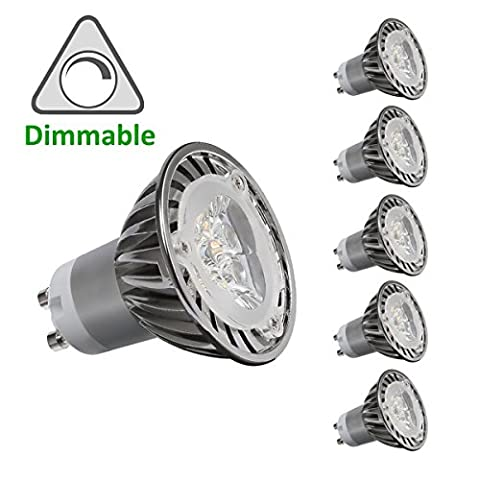 CY LED 3W MR16 GU10 LED Bulbs, 35W Halogen Bulbs