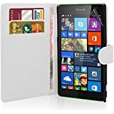 Excellent Accessories ¨ Microsoft Lumia 535 - Premium Quality Exclusive Leather Easy Clip On WALLET / FLIP Case / Cover / Pouch With Card Holders + Free Clear Screen Protector + Polishing Cloth