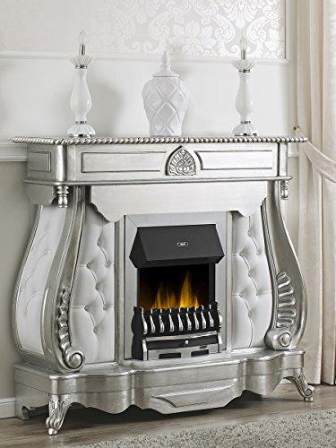 Simone Guarracino Elektro-Kamin Billionaire Modern Barock Stil Dekokamin Blattsilber Marmor Carrara...