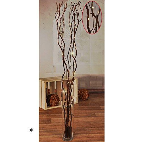 Dekorative Lichterzweige 100 cm mit 45 LED's batteriebetrieben LED Beleuchtete Timer Zweige Lichter Dekoration Weidenzweige -