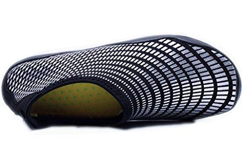 Gaatpot Donna Uomo Unisex Estate Scarpe da Acquatici Spiaggia Sport Nuotare Rapida Asciugatura Scarpette da Surf Yoga Scoglio Nero
