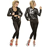 NET TOYS 50er Jahre Kostüm Damen Rockabilly Damenkostüm L 42/44 Grease T-Birds Jacke Rock n Roll Outfit Grease Jacket Damenjacke 50s Mode Verkleidung