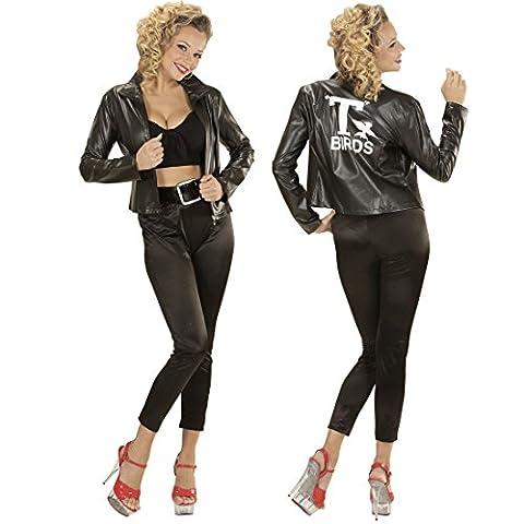 50er Jahre Kostüm Damen Rockabilly Damenkostüm L 42/44 Grease T-Birds Jacke Rock n Roll Outfit Grease Jacket Damenjacke 50s Mode