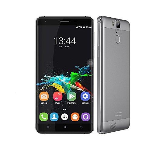 Preisvergleich Produktbild smartphone ohne vertrag , Oukitel K6000 Pro 5,5 zoll 2.5D FHD 4G LTE Smartphone Android 6.0 MTK6753 Octa Core 3GB+32GB 5MP + 13MP 6000mAh , Unterstützung Fingerprint GPS OTG dual sim (gry)